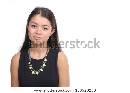 Beautiful commercial woman - stock photo