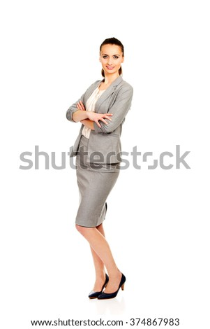 Beautiful confident businesswoman.
