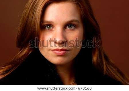 Beautiful Confident Green Eyed Young Woman