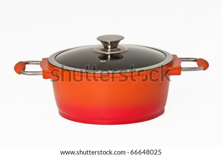 Beautiful cooking pot - stock photo