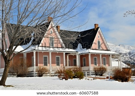 Beautiful country home - stock photo