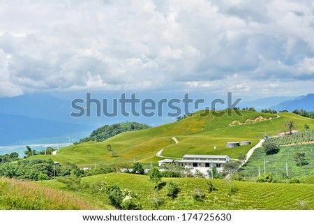 Beautiful countryside in Hualien county, Taiwan, Asia