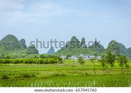 Beautiful countryside scenery in summer