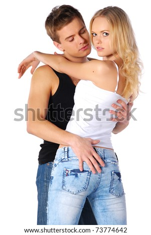 beautiful couple - stock photo