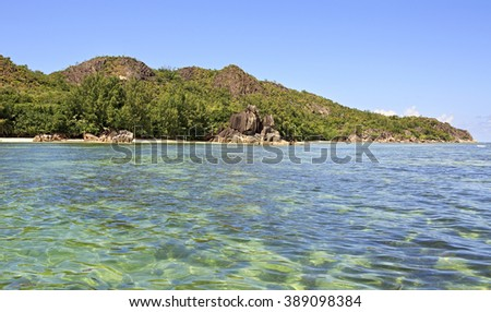 Beautiful Curieuse Island in Indian Ocean. - stock photo