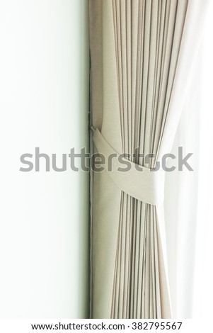 Beautiful curtain decoration in livingroom interior