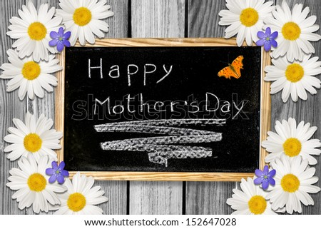 Beautiful customizable Mother's Day background - stock photo