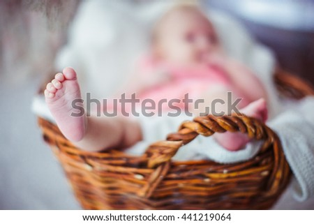 Beautiful cute baby feet
