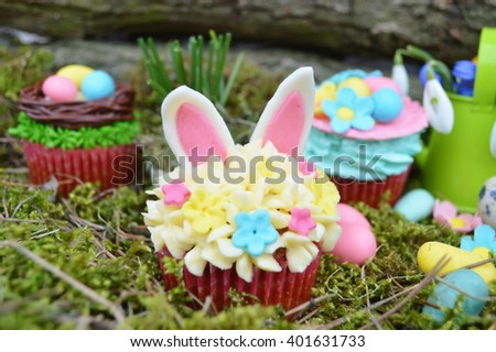 Beautiful cute Easter cupcakes