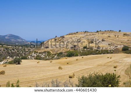 Beautiful Cyprus Fields View