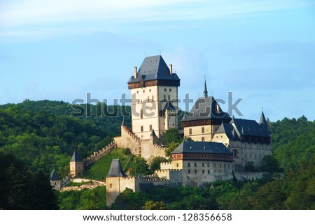 Beautiful Czech medieval castle Karlstejn near Prague