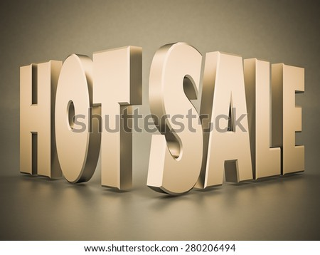 beautiful 3d text HOT SALE - stock photo