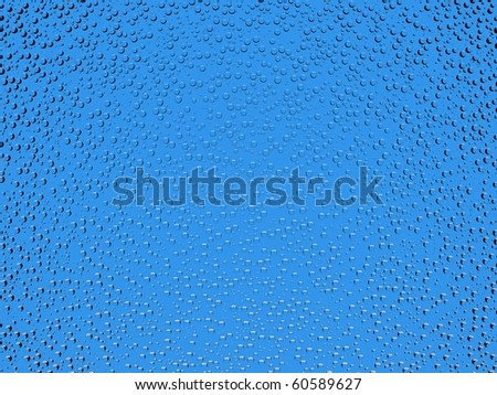 Beautiful 3d water drops background - stock photo