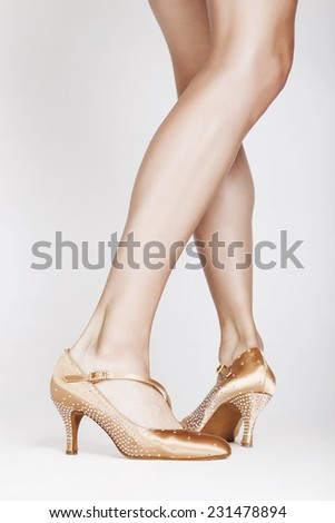 Beautiful dancer legs 15 - stock photo