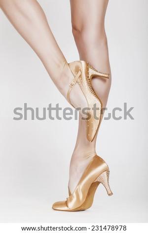 Beautiful dancer legs 10 - stock photo