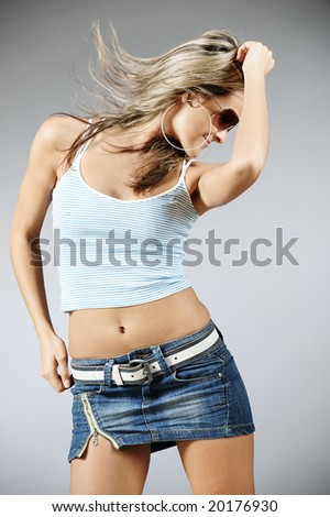 Beautiful dancing female - stock photo