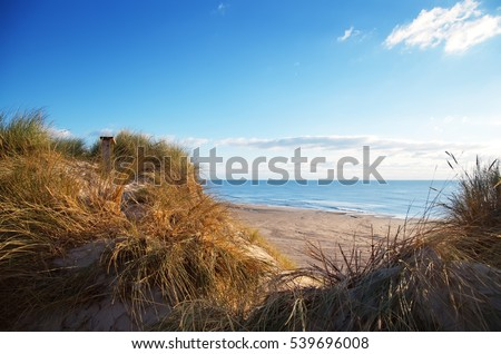 beautiful danish coastline at autumn