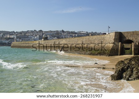 Beautiful day at St Ives, Cornwall, England