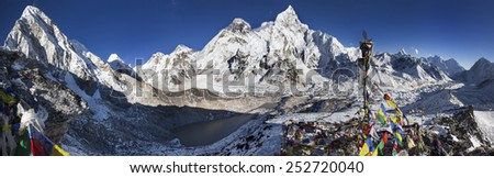Beautiful day in the Himalayas - stock photo