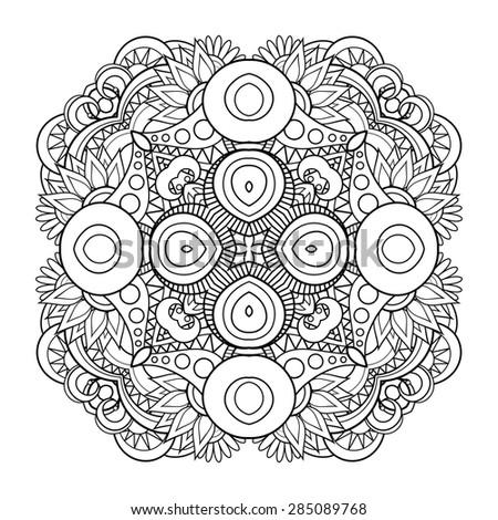 Beautiful Deco Mandala. Round Ornament Pattern - stock photo