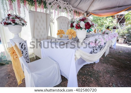 Beautiful decor wedding ceremony