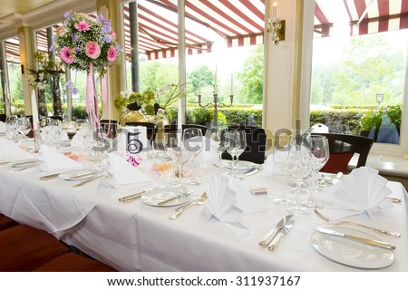 Beautiful decoration for a wedding party