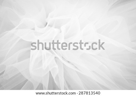 Beautiful delicate background mesh fluffy fabric, Black and white - stock photo