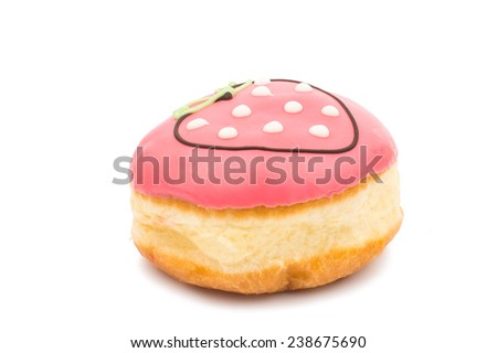 beautiful delicious donuts isolated on white background - stock photo