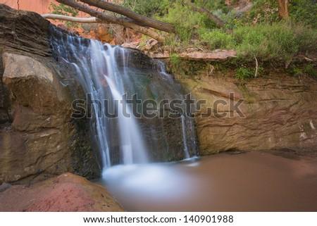 Beautiful desert landscape - stock photo