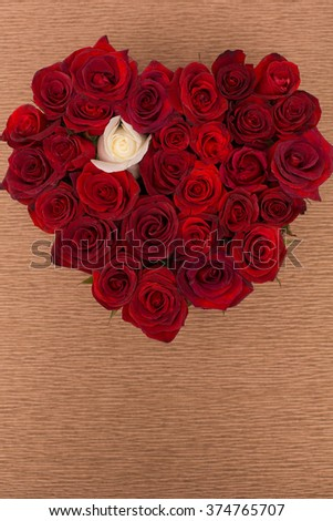 Beautiful design of flowers. Big bouquet of red roses.