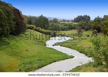 Beautiful Devon countryside in United Kingdom - stock photo