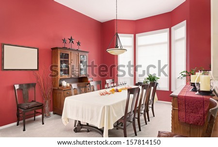 Beautiful Dining Room in New Home