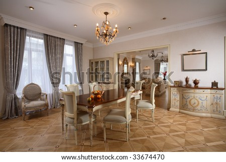 Beautiful dining room in suburban home