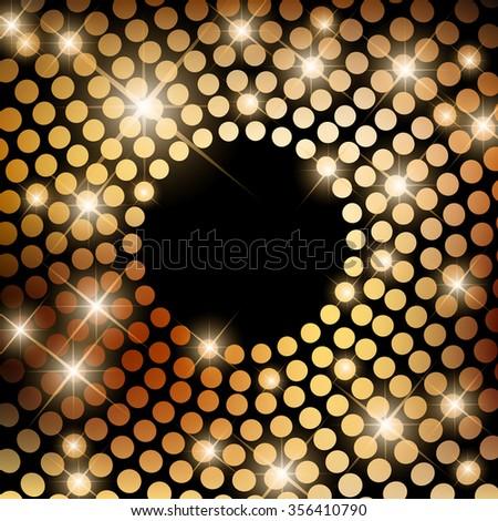 Beautiful disco backgroundwith round lights - stock photo