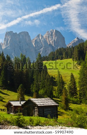 Beautiful Dolomites landscape - stock photo