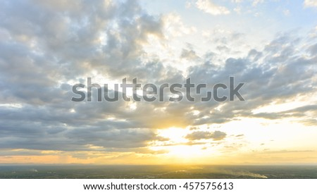 Beautiful Dramatic Cloudscape with sunset