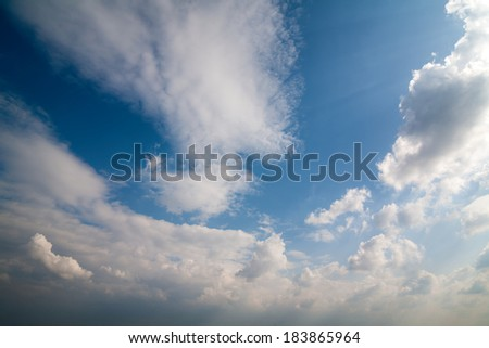 Beautiful, dramatic, colorful clouds and sky. - stock photo