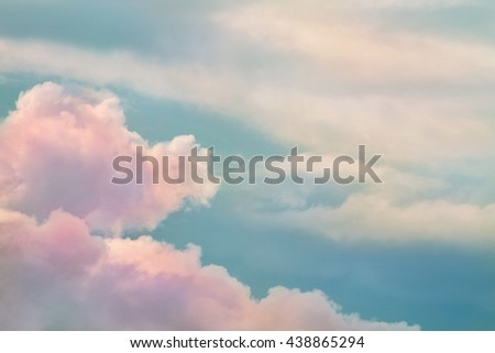 Beautiful dreamy sky with pink clouds