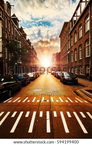 Urban Street Scene Stock Images, Royalty-Free Images ...