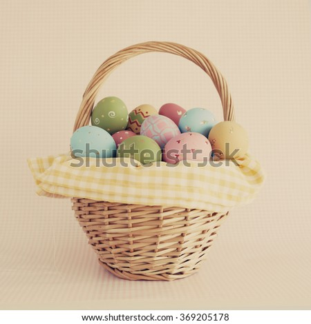 Beautiful easter eggs - stock photo