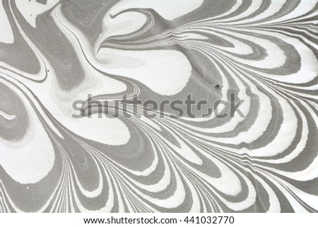 Beautiful ebru marbling texture. Handmade ebru art surface. Traditional Turkish technique abstract art. Watercolour stains. Unusual art technique. Modern artistic design. Creative backdrop. - stock photo