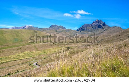 Beautiful Ecuadorian Andres on a sunny day. - stock photo