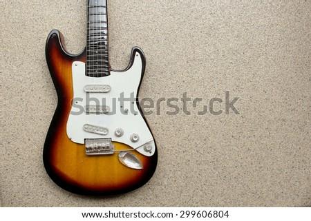 Beautiful electric guitar - stock photo