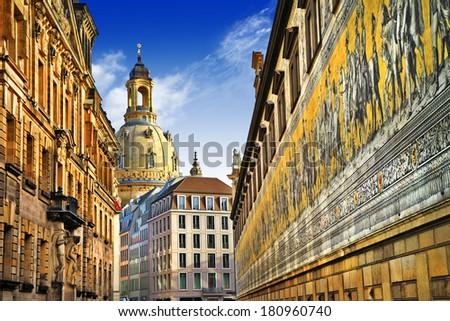 beautiful elegant Dresden, Germany - stock photo