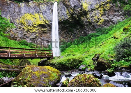Beautiful elwha falls - stock photo