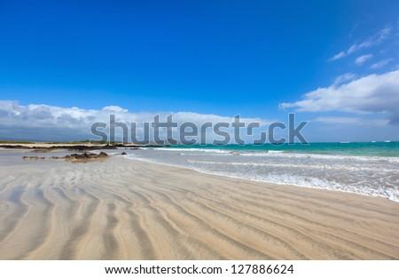 Beautiful empty beach on Galapagos Isabela island, Ecuador - stock photo