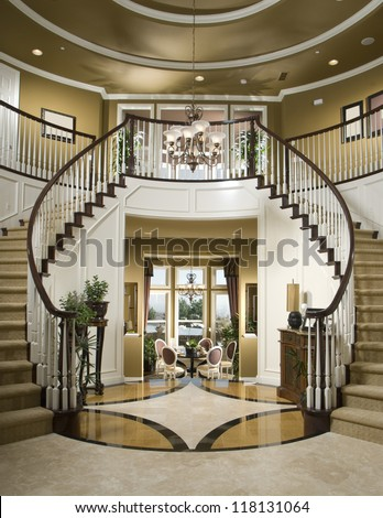 Beautiful Entry Staircase This Luxury Stairway Architecture Stock Images Photos Of Living