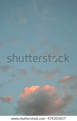 Beautiful evening sky with clouds, air nature