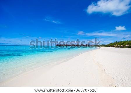 Beautiful exotic tropical island in Indian ocean - stock photo