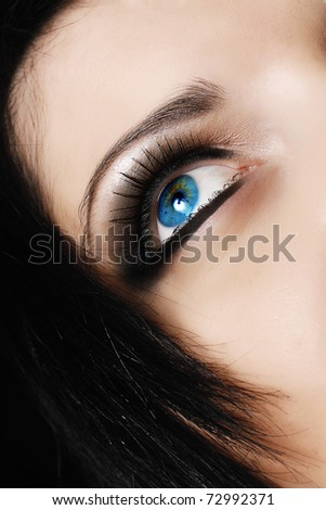 Beautiful face. - stock photo